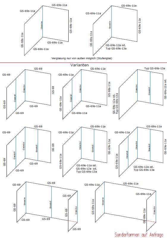 Для каждого стыкового шва профиля свыше 5900 мм дополнительно 4 шт. Типа g и 2 шт.
